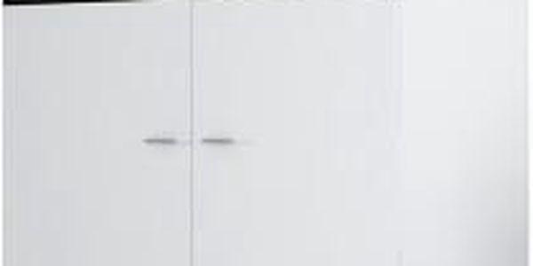 Viktor 1 - Skříň 100 (bílá / černá lesk)