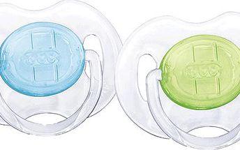 AVENT Dudlík, 2 ks (0 – 6 m) - modrý + zelený