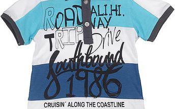 Chlapecké pruhované polo tričko - modro-bílé