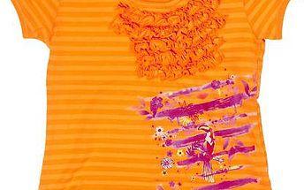 Dívčí tričko - oranžové