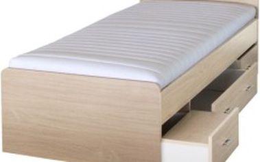 TEMPO KONDELA Duet postel, javor, 90x200