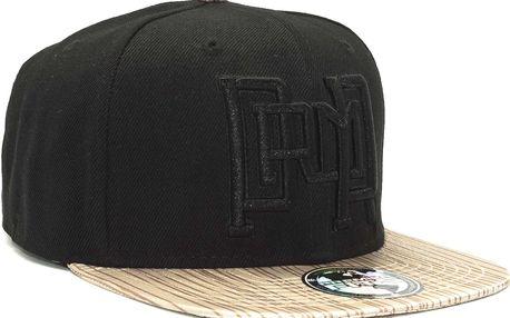 Kšiltovka Premier Fits PRMR Link Black/Black/Wood Snapback