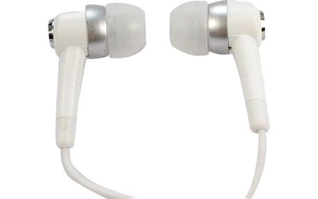 Stereo sluchátka 3,5mm - špunty, bílé
