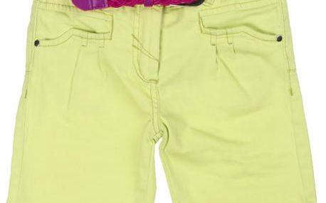 Dívčí bermudy s páskem - žluté