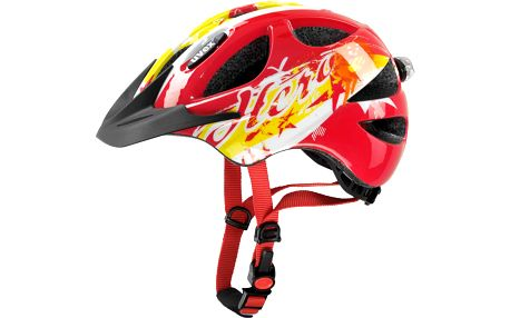 UVEX Hero red 2015 dětská cyklistická přilba se světlem