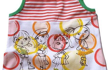 Dívčí pruhované tílko s obrázkem - barevné