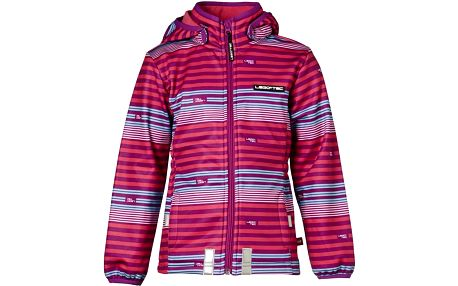 Dívčí pruhovaná softshellová bunda - růžová