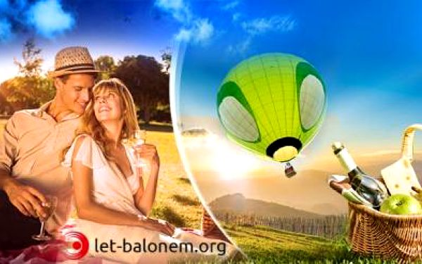 Až 2hodinový VYHLÍDKOVÝ LET BALONEM pro 1 nebo 2 osoby + možnost PIKNIKU! Mnoho odletových míst!