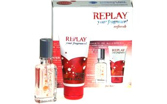 Toaletní voda Replay your fragrance! Edt 20ml + 50ml sprchový gel