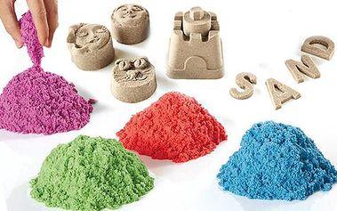Tekutý písek ve 4 barvách + 8 kusů báboviček