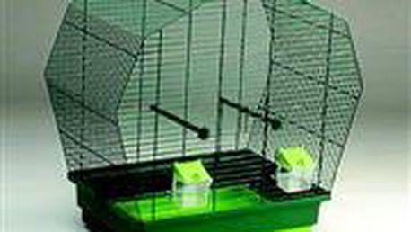 Tmavě zelená klec K6 pro papoušky