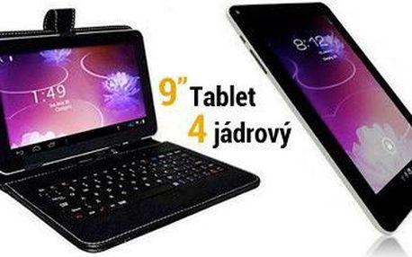 4 jádrový 9 palcový tablet Android KITKAT s klávesnicí a obalem jen za cenu 1990Kč!