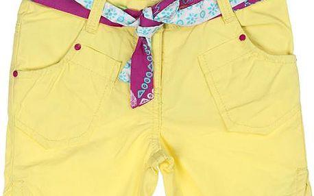 Dívčí šortky - žluté