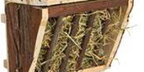 Trixie Dřevěné jesličky na seno, úchyt na klec 20x15x17 cm