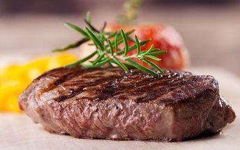 2x 200g hovězí steak s libovolnou přílohou a malým salátkem v restauraci Ekvádor v Brně