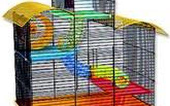 Klec Benek pro křečky a myši černá+žlutá