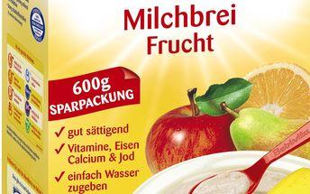 Mléčná kaše ovocná 600g
