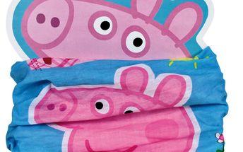 Dětský nákrčník Peppa Pig- modro - růžový