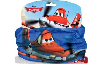 Chlapecký nákrčník Letadla - modro - oranžový