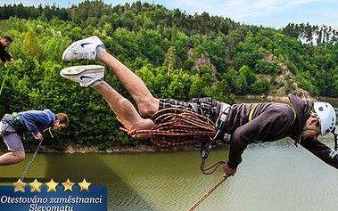Adrenalinový Rope jump z 25 metrů
