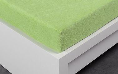 XPOSE ® Froté prostěradlo Exclusive dvoulůžko - světle zelená 140x200 cm