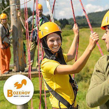 2denní aktivní pobyt ve Sport & Relax areálu Bozeňov na Moravě pro jednoho