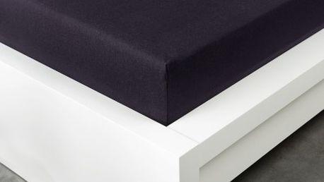 XPOSE ® Jersey prostěradlo Exclusive dvoulůžko - černá 180x200 cm