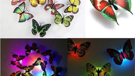 Nástěnná noční LED lampička - Motýl