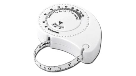 Bílý svinovací metr - vhodný pro měření tělesných rozměrů - dodání do 2 dnů