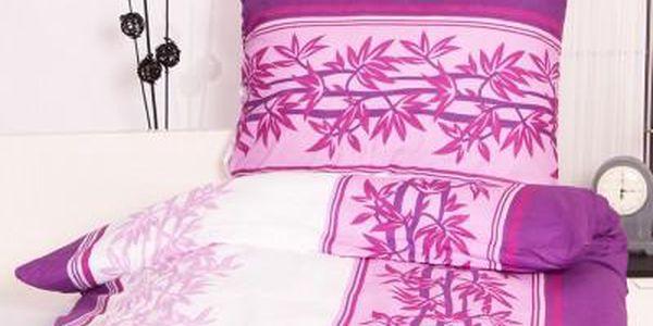 Dreaming Peacock povlečení na dvě lůžka ŠTĚPÁNKA fialová 140x200, 70x90