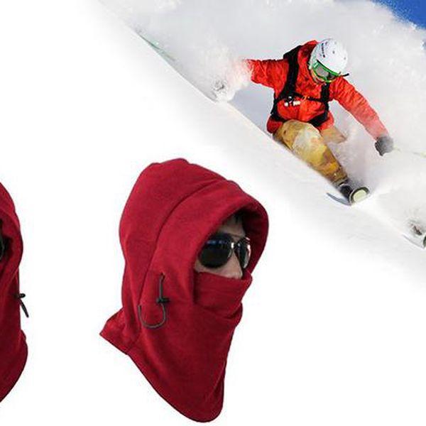 Červená čepice/kukla na lyže, na kolo, do města, na sporty