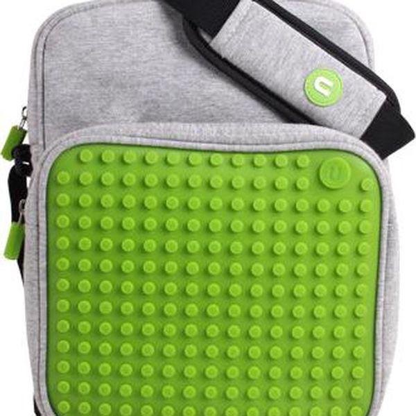 Pixelová taška přes rameno, grey/green