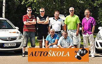 Autoškola ve výukovém centru Nobe: řidičské oprávnění sk. B.