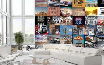 Kreativní koláž 64 dílů 37,5 x 27,5cm Route 66