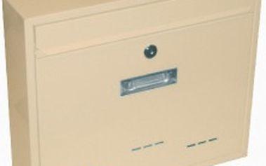 Poštovní schránka RADIM velká 360x310x90mm, béžová