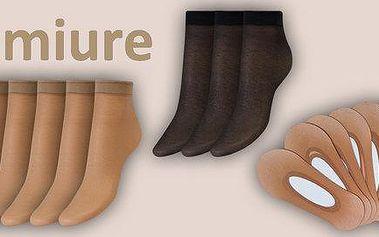 Silonkový set – 9 párů ponožek a 9 párů ťapek