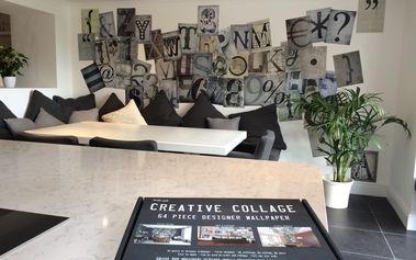 Kreativní koláž 64 dílů 37,5 x 27,5cm Ozdobná typografie