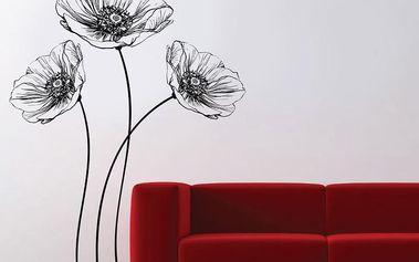 Samolepka na stěnu Poppy, 70x50 cm