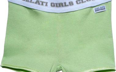 Dívčí boxerkové kalhotky - zelené, bílé