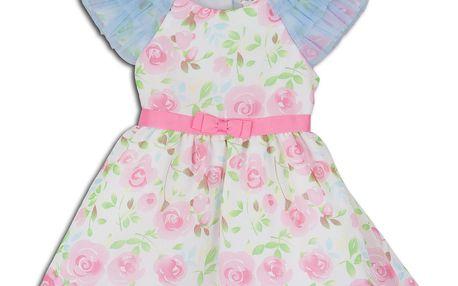 Dívčí společenské šaty KRISSY - růžovo - modré