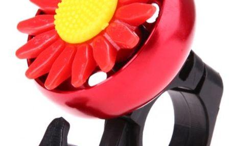 Zvonek s květinou na kolo