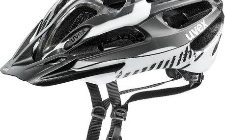 Cyklistická přilba UVEX Supersonic black-white mat 52-57 cm