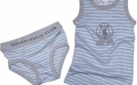 Set chlapeckého spodního prádla - modro-šedý