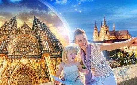 90minutová zábavně naučná procházka po areálu Pražského hradu pro malé i velké! Děti do 6 let ZDARMA!