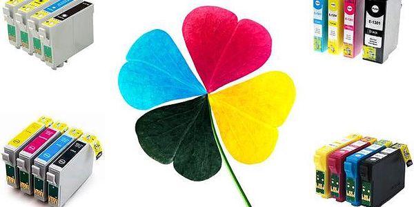 4 sady kompatibilních náplní do tiskáren značky Epson s kontrolním čipem
