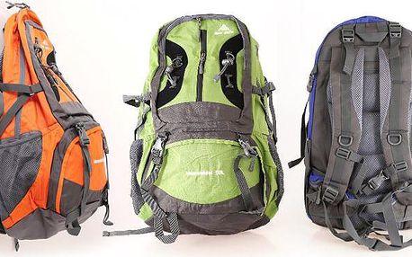 Prostorný batoh Man weils 50 l s vyztužením zad v 5 barvách