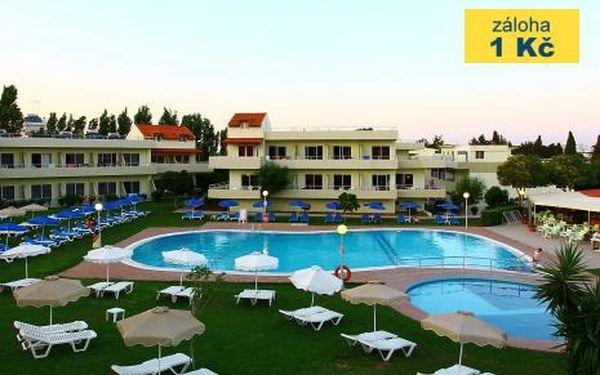 Řecko, oblast Rhodos, doprava letecky, polopenze, ubytování v 3* hotelu na 9 dní
