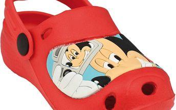 Chlapecké sandály Mickey Mouse - červené