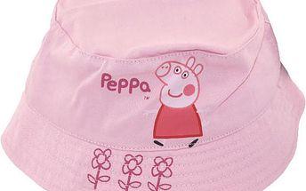 Dívčí růžový klobouček Peppa Pig