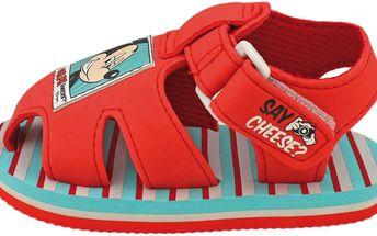 Dětské páskové sandály Mickey Mouse - červené
